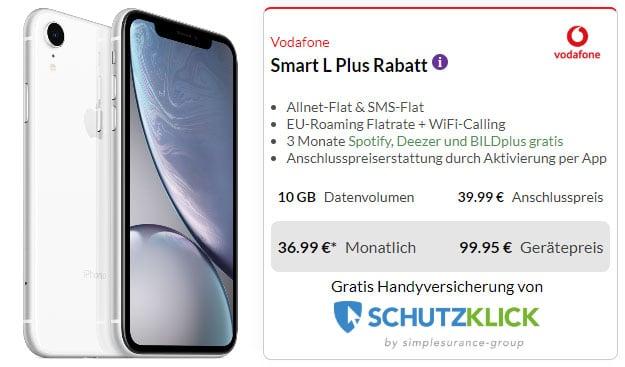 Apple iPhone Xr (64GB)(Weiß) + Vodafone Smart L Plus bei Preisboerse24