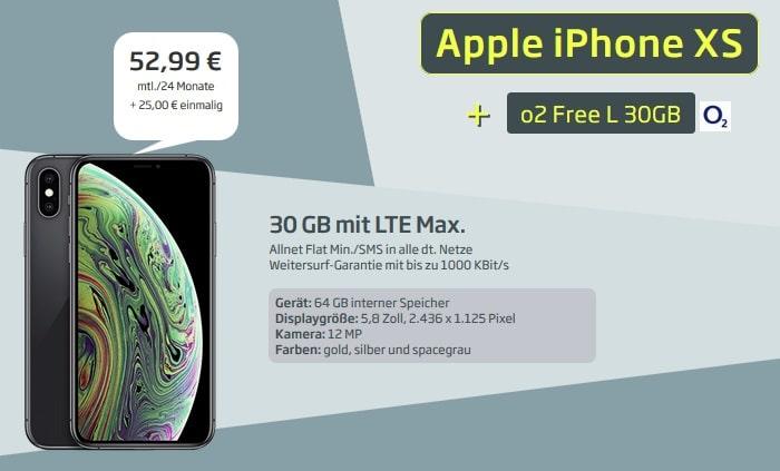 iphone xs + o2 free l