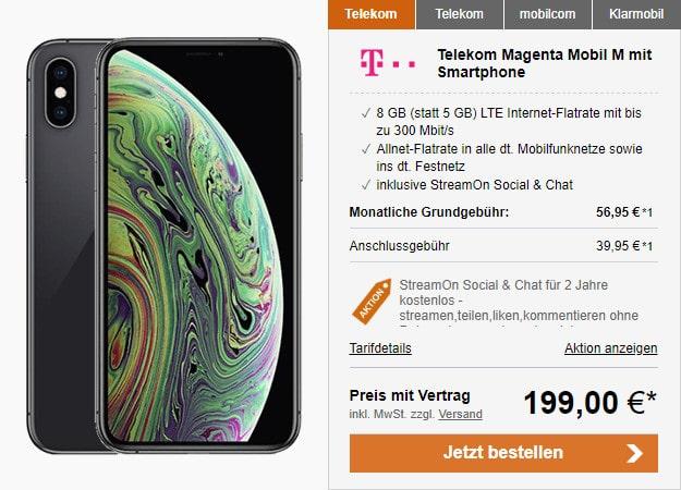 iphone xs + telekom magenta mobil m logitel