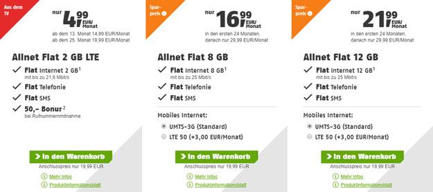 klarmobil Allnet-Flat-Angebote