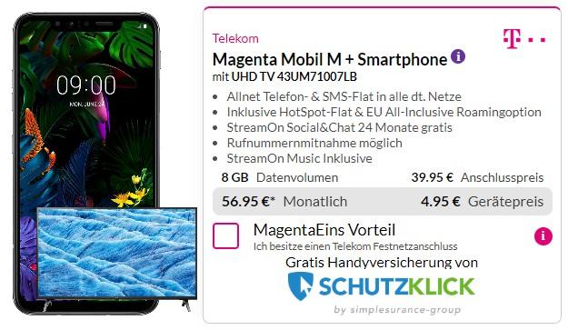 LG G8s ThinQ + Telekom Magenta Mobil M bei Preisboerse24