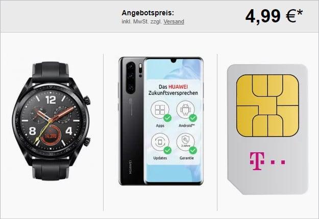 huawei p30 pro + huawei watch gt sport + telekom magenta mobil m