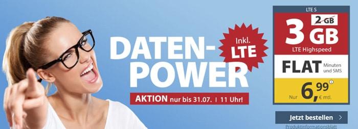 PremiumSIM Allnet-Flat mit 3 GB LTE