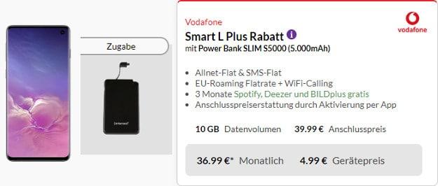 s10 + powerbank + vodafone smart l plus
