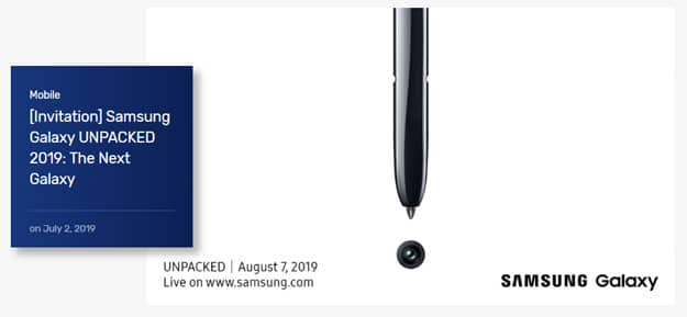 Samsung Galaxy Note 10 Unpacked Event