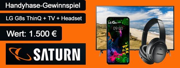 Wahnsinns Handyhase-Gewinnspiel: Gewinne das LG G8s ThinQ + Smart-TV + Bose-Kopfhörer im Wert von fast 1.500 €!