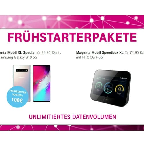 Telekom 5G Tarife: Frühstarter-Pakete mit zwei Aktionstarifen - alle Kosten, alle Infos