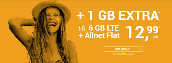 winSIM Allnet-Flat mit 6 GB LTE und 12,99 € Grundgebühr