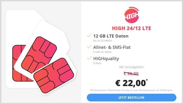 HIGH Allnet-Flat 12 GB 22 Euro
