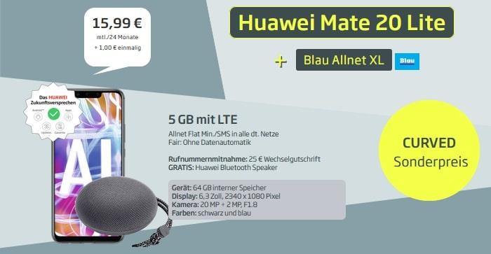Huawei Mate 20 lite + Blau Allnet XL Cm51