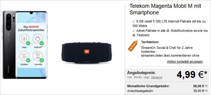 Huawei P30 Pro + Telekom Magenta Mobil M + Soundbar
