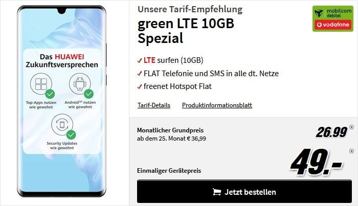 Huawei P30 Pro + green LTE Vodafone