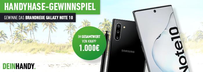 Wahnsinns Handyhase-Gewinnspiel: Gewinne das brandneue Samsung Galaxy Note 10 im Wert von 949 €!