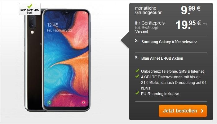 Samsung Galaxy A20e + Blau Allnet L handyflash