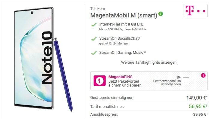 Samsung Galaxy Note10 + Telekom Magenta Mobil M