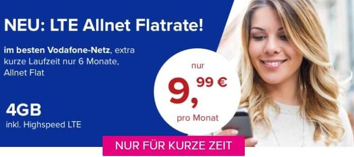 Tarifhaus 4 GB LTE Allnet-Flat Vodafone