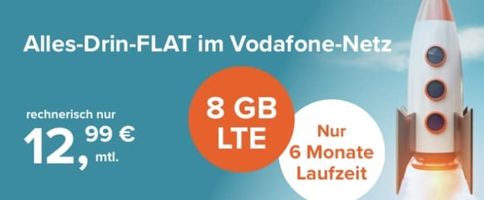 Tarifhaus 8 GB LTE Allnet-Flat 12,99 Euro