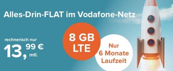 Tarifhaus 8 GB LTE Allnet-Flat