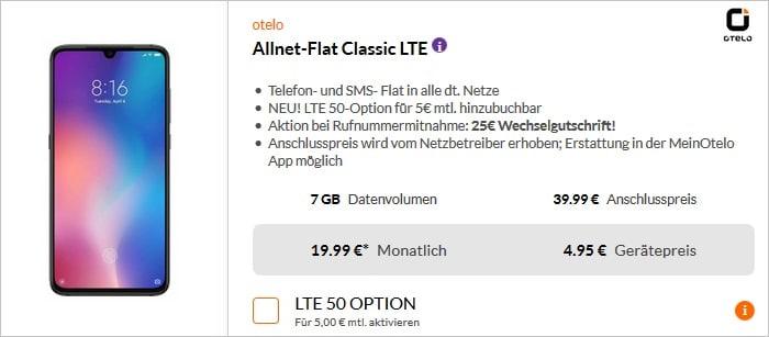 Xiaomi Mi 9 (128 GB) + otelo Allnet-Flat Classic LTE