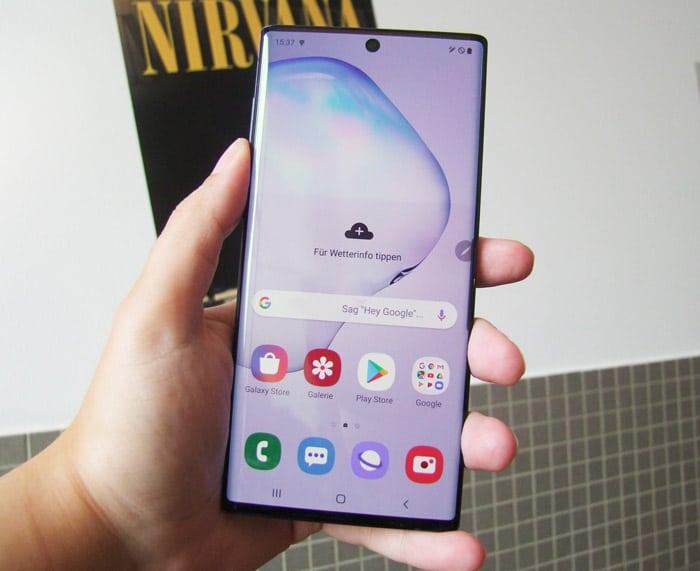 Samsung Galaxy Note 10 Test - Display, Bildschirm