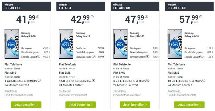 Samsung Galaxy Note 10 + winSIM LTE All