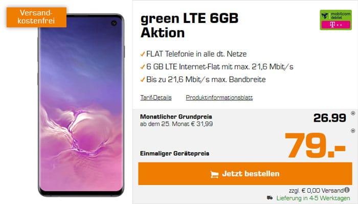 Samsung Galaxy S10 + mobilcom-debitel green LTE (Telekom-Netz) bei Saturn