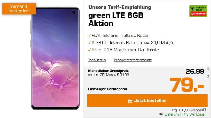 Samsung Galaxy S10 + mobilcom-debitel green LTE (Vodafone-Netz) bei Saturn
