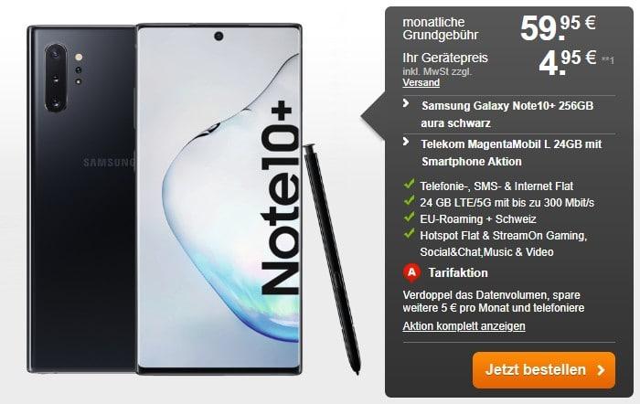 Samsung Galaxy Note 10 Plus + Telekom MagentaMobil L bei Handyflash