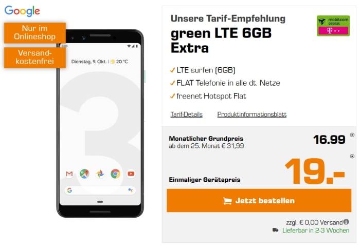 Ggoogle Pixel 3 md green LTE Telekom-Netz