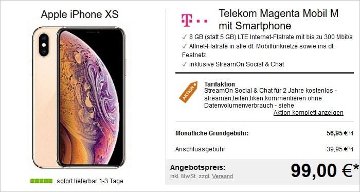 iphone xs mobil m logitel 99 euro
