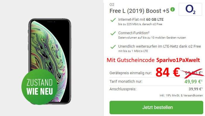 Apple iPhone Xs neuwertig mit o2 Free L Boost