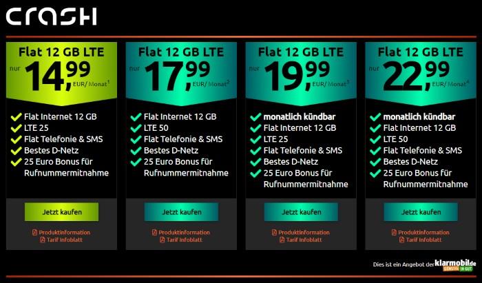 klarmobil Allnet Flat 12 GB LTE