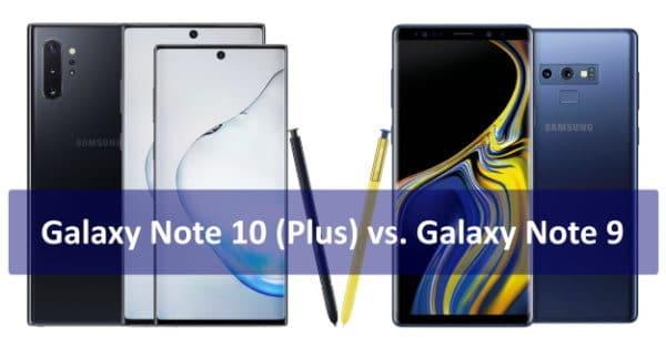 Samsung Galaxy Note 10 vs. Samsung Galaxy Note 9 Thumbnail