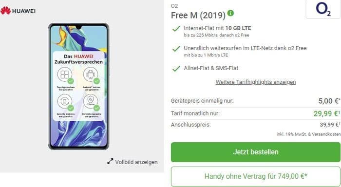 Huawei P30 DeinHandy o2 Free M