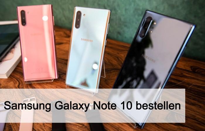 Samsung Galaxy Note 10 vorbestellen: Alle Preise, Verfügbarkeiten und Details bei den Handyshops