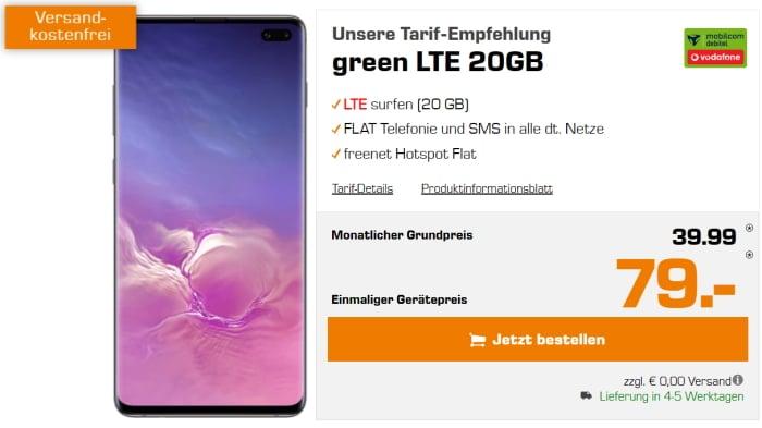 Samsung Galaxy S10 Plus Green LTE 20 GB Vodafone Saturn