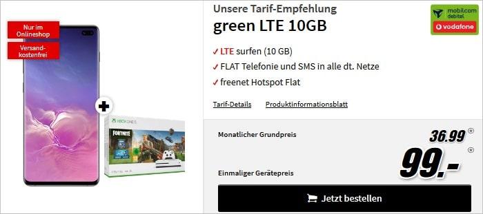 Galaxy S10 Plus + green LTE MM 99