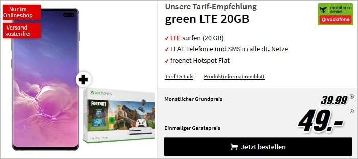 Samsung Galaxy S10 Plus + mobilcom-debitel green LTE (Vodafone-Netz) bei MediaMarkt