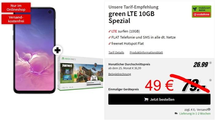 Samsung Galaxy S10e + mobilcom-debitel green LTE (Vodafone-Netz) bei MediaMarkt