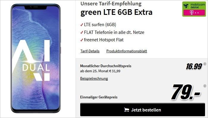 Huawei Mate 20 Pro + md green LTE (Telekom-Netz) bei MediaMarkt
