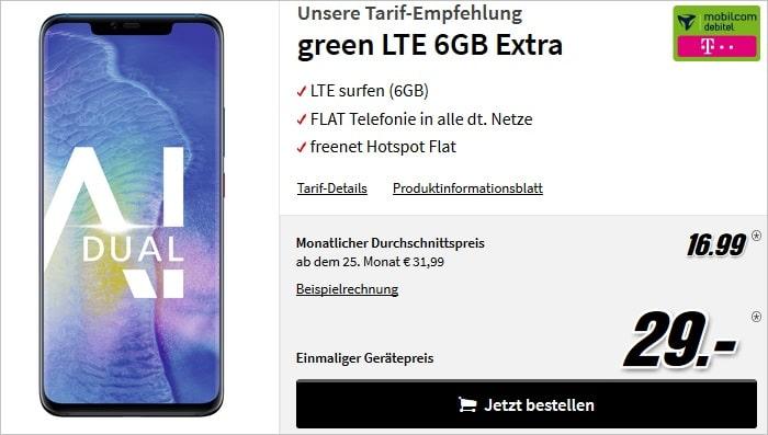 Huawei Mate 20 Pro + mobilcom-debitel green LTE (Telekom-Netz) bei MediaMarkt