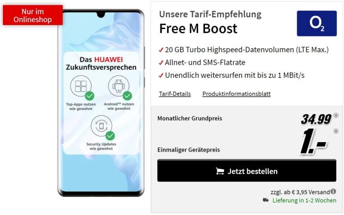 Huawei P30 Pro mit o2 Free M Boost bei MediaMarkt