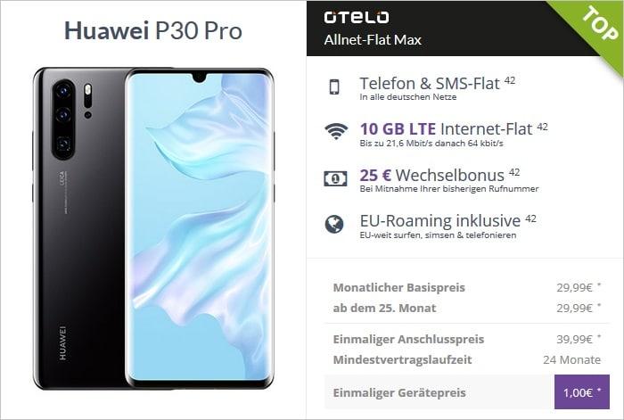 P30 Pro mit otelo allnet-flat max nur 1 euro zuzahlung