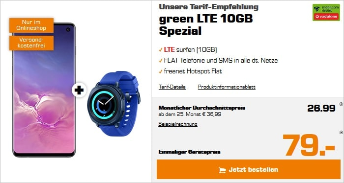 S10 + gear sport + green lte 10 gb lte