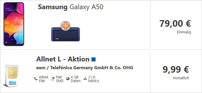 Samsung Galaxy A50 + Blau Allnet L Verivox