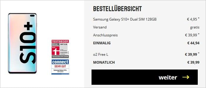 Samsung Galaxy S10 Plus + o2 Free L sparhandy