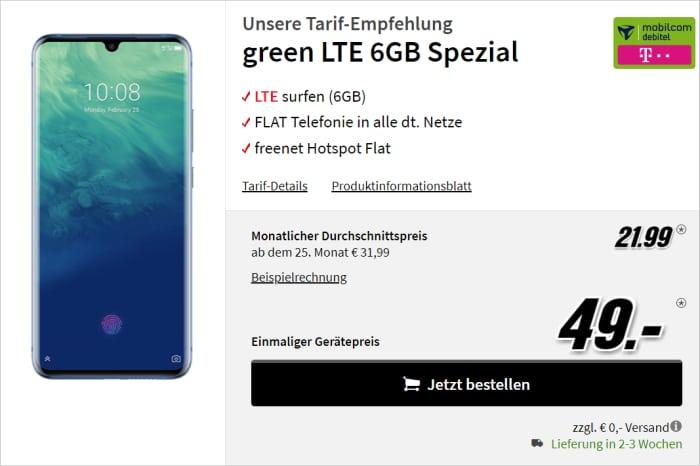ZTE Axon 10 Pro mit green LTE 6GB Spezial Telekom-Netz MediaMarkt
