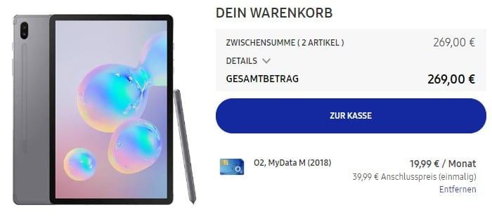 Samsung Galaxy Tab S6 LTE + o2 my Data M im Samsung Online Shop