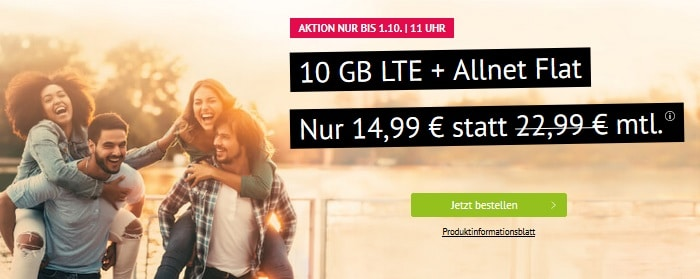 handyvertrag 10 gb aktion