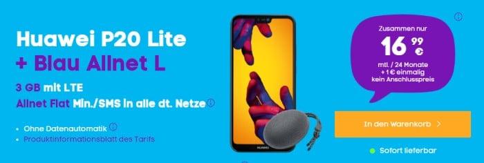 Huawei P20 lite + Huawei SoundStone CM51 + Blau Allnet L bei Blau